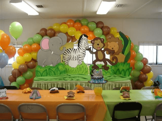 Jungle Themed Baby shower ideas for boys