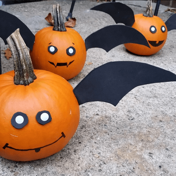 Painted bat pumpkin ideas
