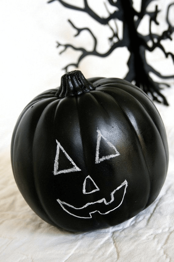 Pumpkin chalk paint