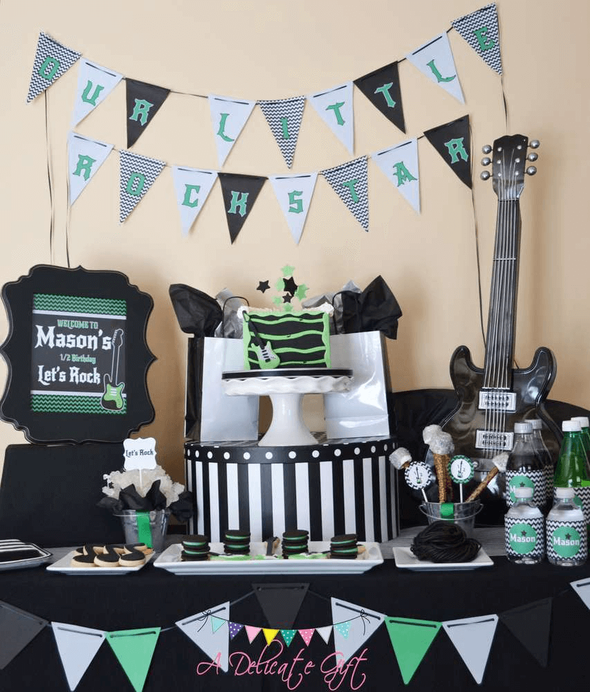 Rock Star Baby Shower Ideas for Boys