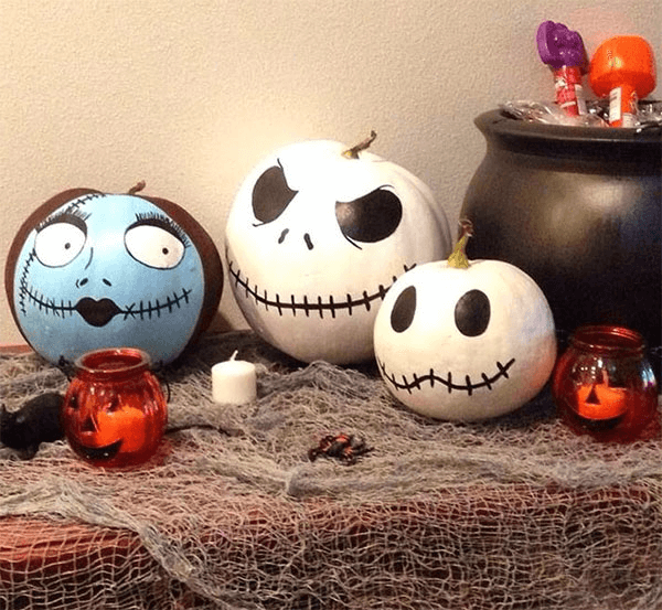 Spooky painted pumpkins ideas