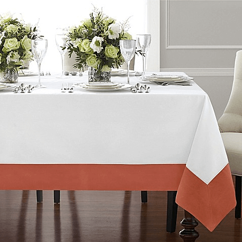 DIY bordered linen tablecloth decor ideas