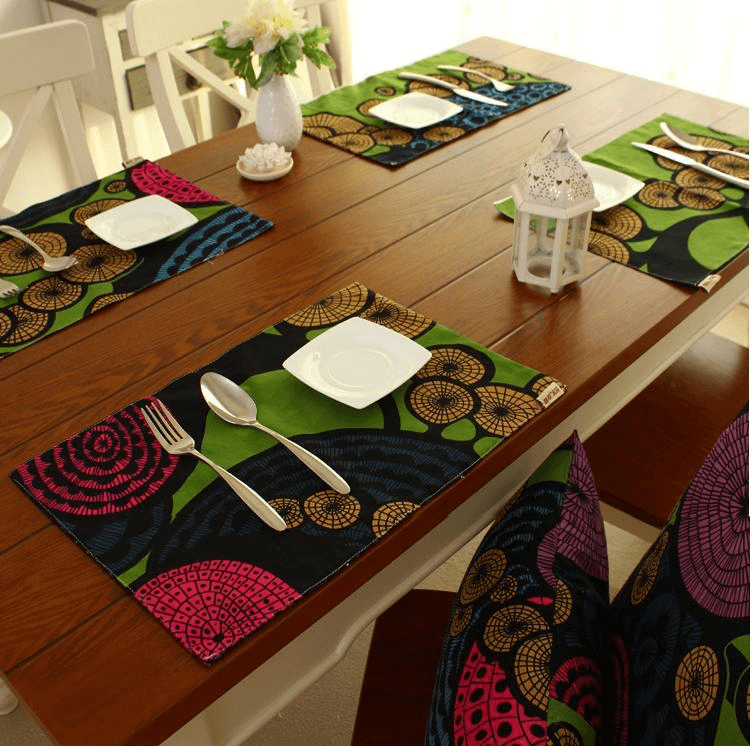 DIY cotton placemats ideas for dining table decorations