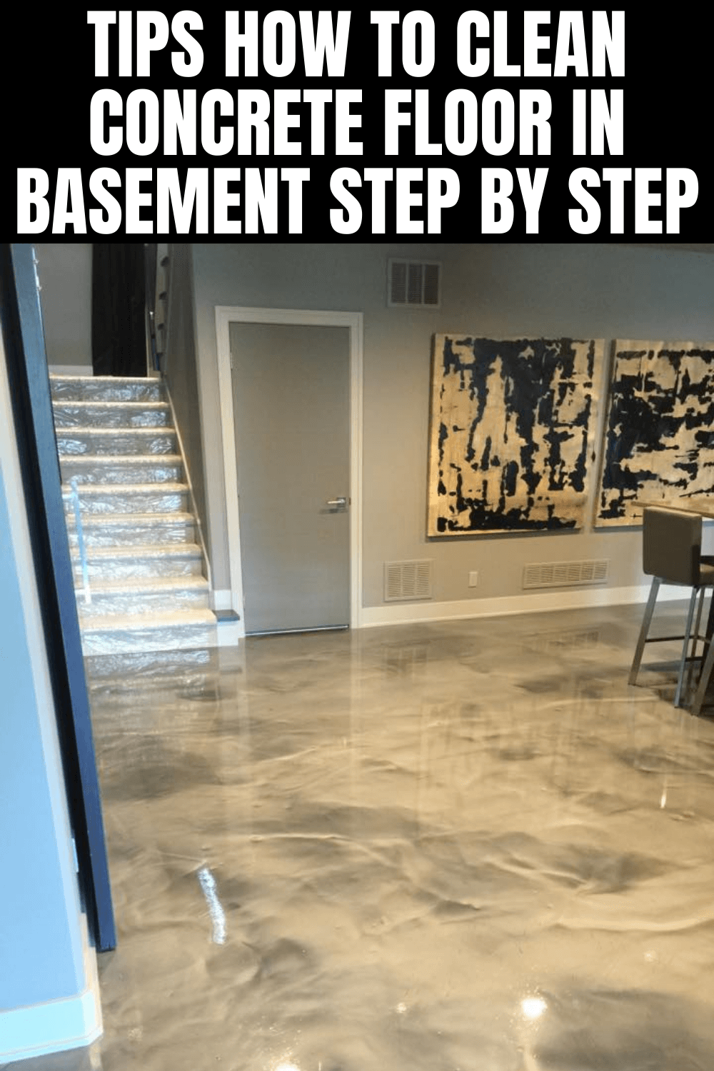 TIPS HOW TO CLEAN CONCRETE FLOOR IN BASEMENT STEP BY STEP
