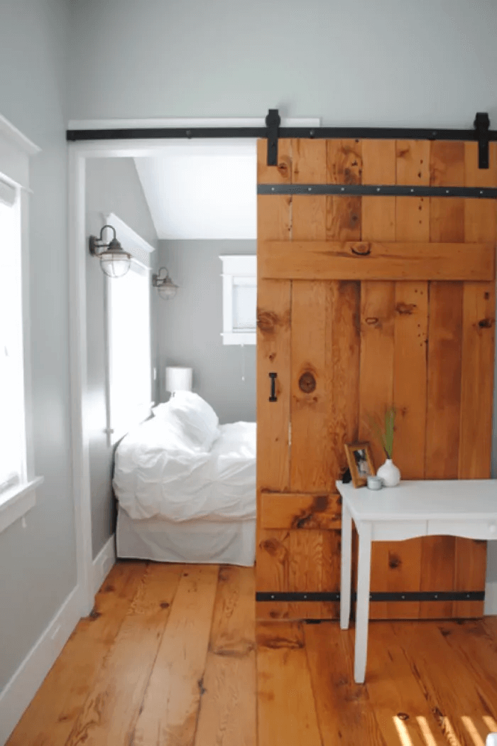 Barn sliding door bedrooms wooden rustic decoration ideas