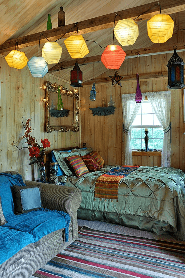 Boho bedroom Lighting bohemian style