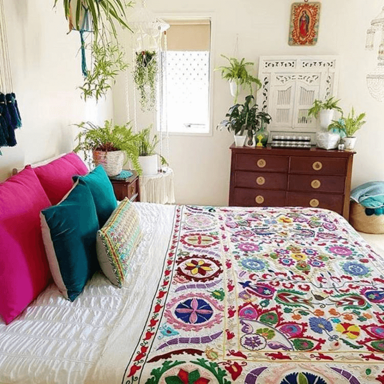 Boho bedroom decor diy bohemian plants