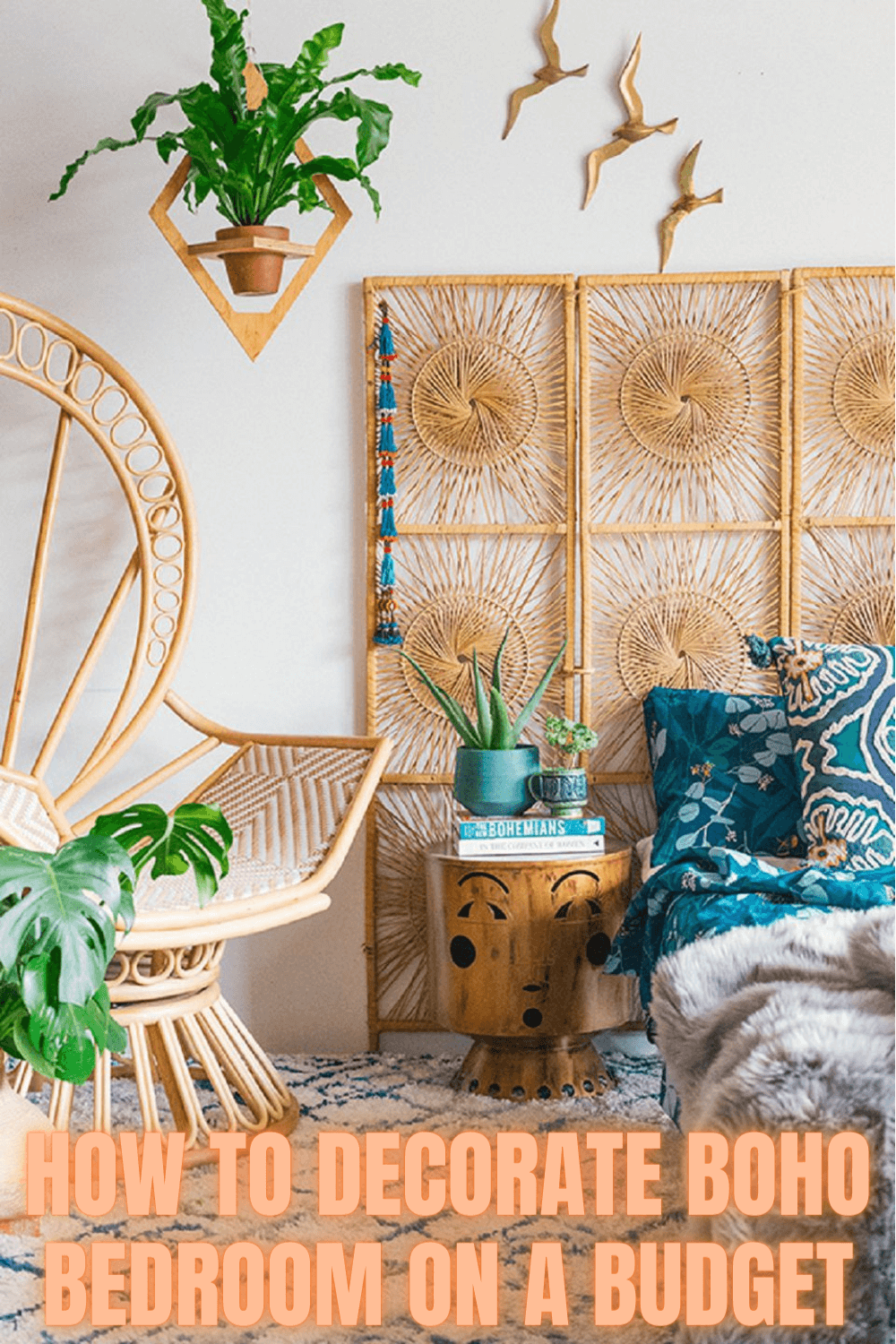 HOW TO DECORATE BOHO BEDROOM ON A BUDGET
