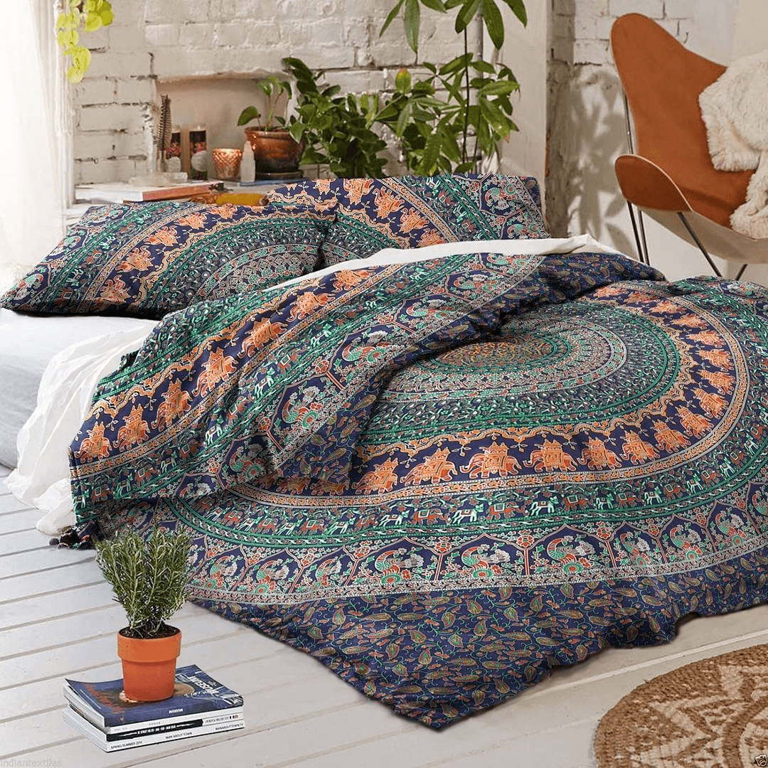 Pillow boho bed bohemian style on a budget