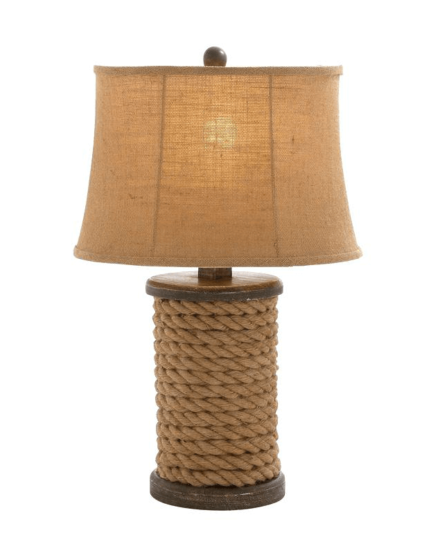 Rope wrapped night lamp bedroom decoration ideas