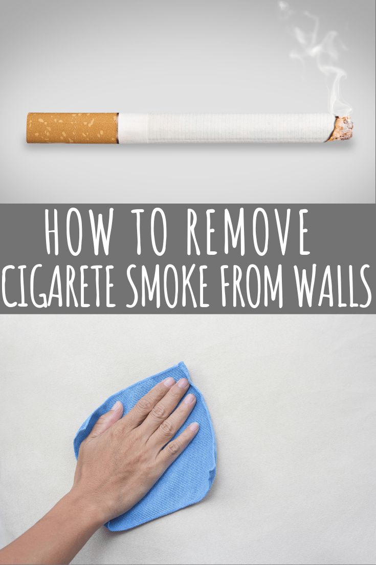 how to remove cigarette smoke from walls