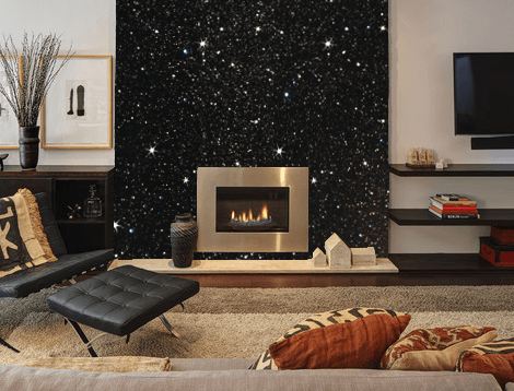 Black and gold fireplace decor ideas
