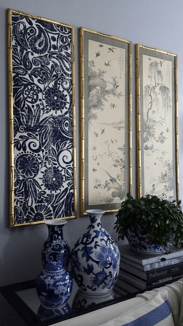 DIY framed fabric wall art ideas