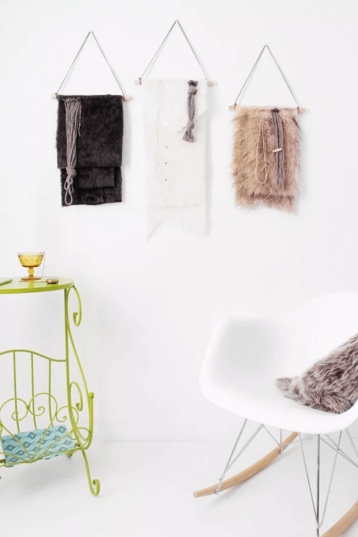 Faux hanging decor for wall