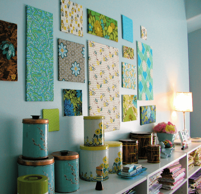 Framed fabric wall art ideas easy DIY