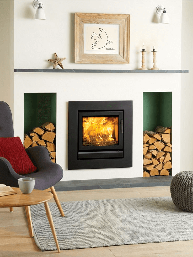 Inset fireplace modern design ideas