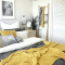 Mustard yellow bedroom decor inspiration