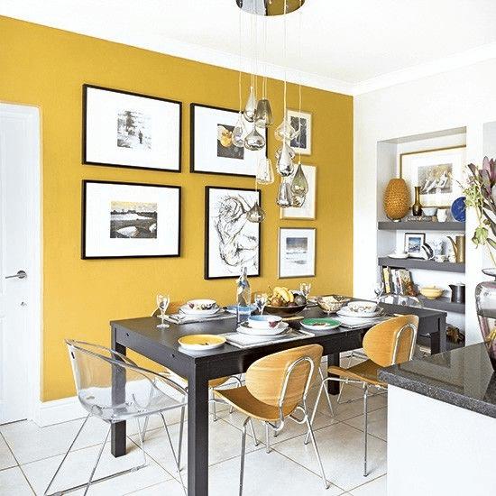 Mustard yellow kitchen decor ideas