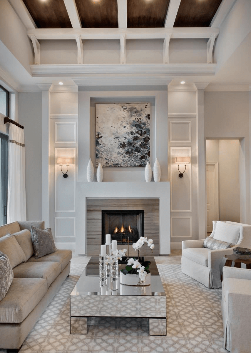 Small white fireplace decor cozy living contemporary design ideas