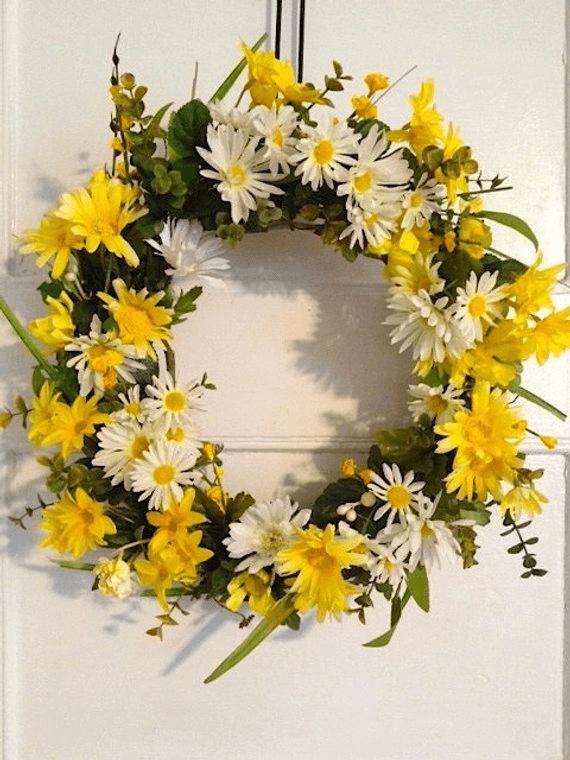 Yellow Wreaths for Front Door