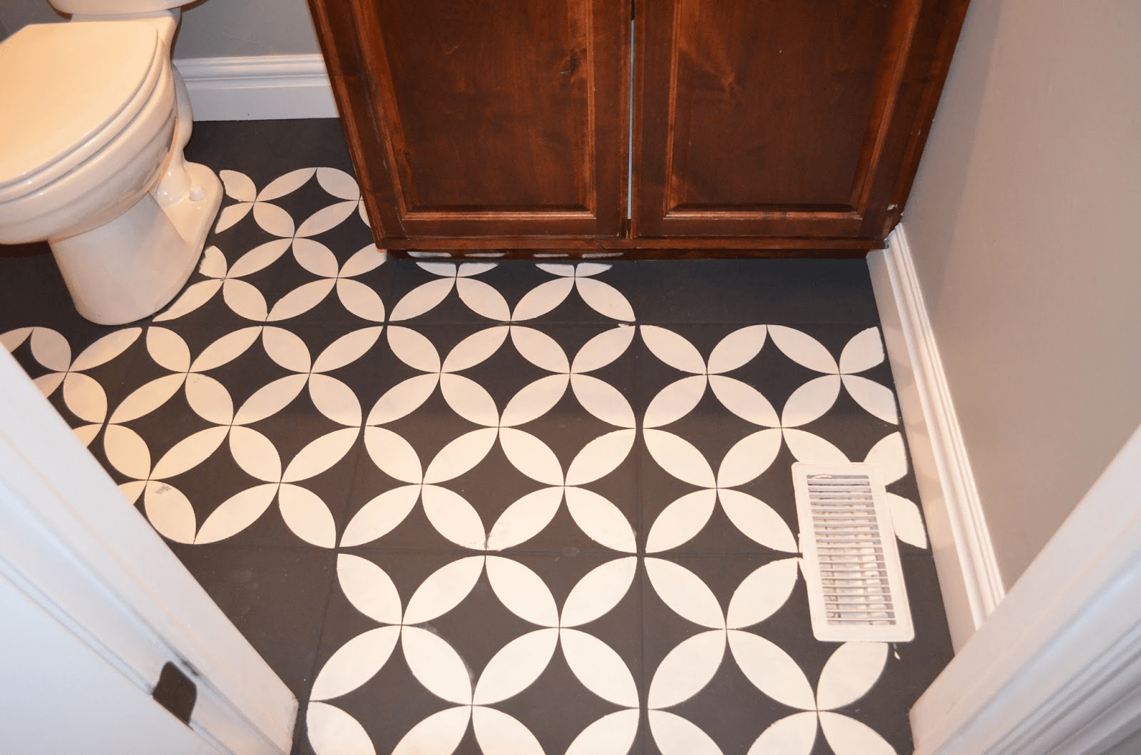 Bathroom painted floor tile ideas