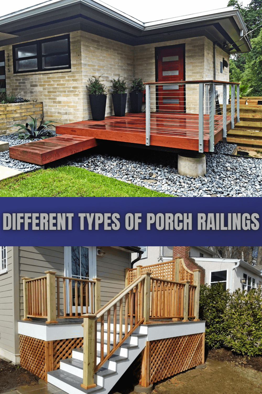 DIFFERENT TYPES OF PORCH RAILINGS