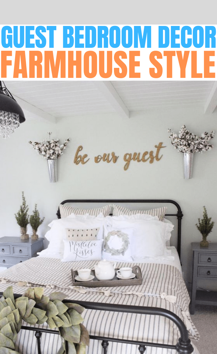GUEST BEDROOM DECOR FARMHOUSE STYLE