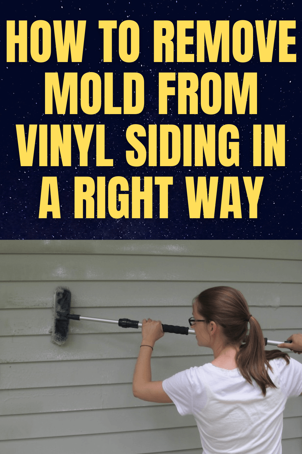 HOW TO REMOVE MOLD FROM VINYL SIDING IN A RIGHT WAY