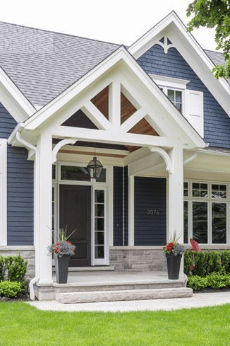 Traditional simplicity covered front porch design ideas