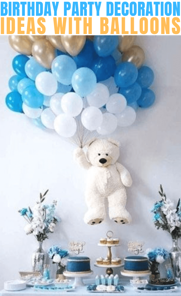 BIRTHDAY PARTY DECORATION WITH BALLOONS