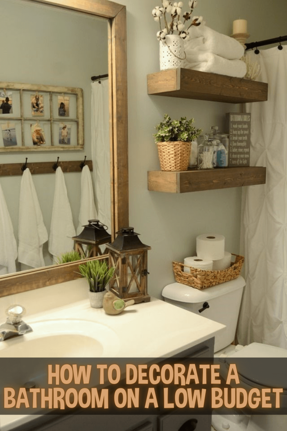 HOW TO DECORATE A BATHROOM ON A LOW BUDGET