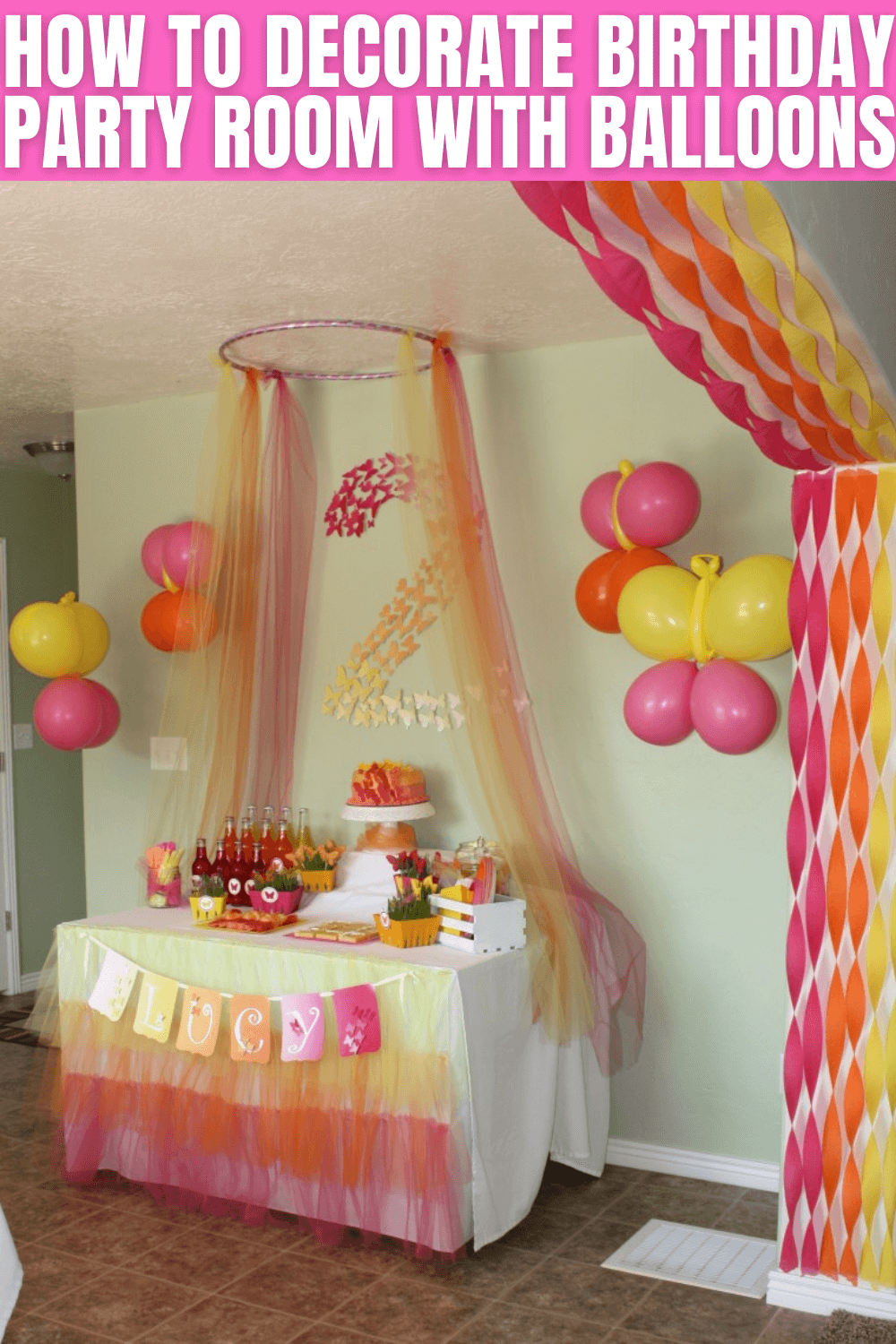 HOW TO DECORATE BIRTHDAY PARTY ROOM WITH BALLOONS