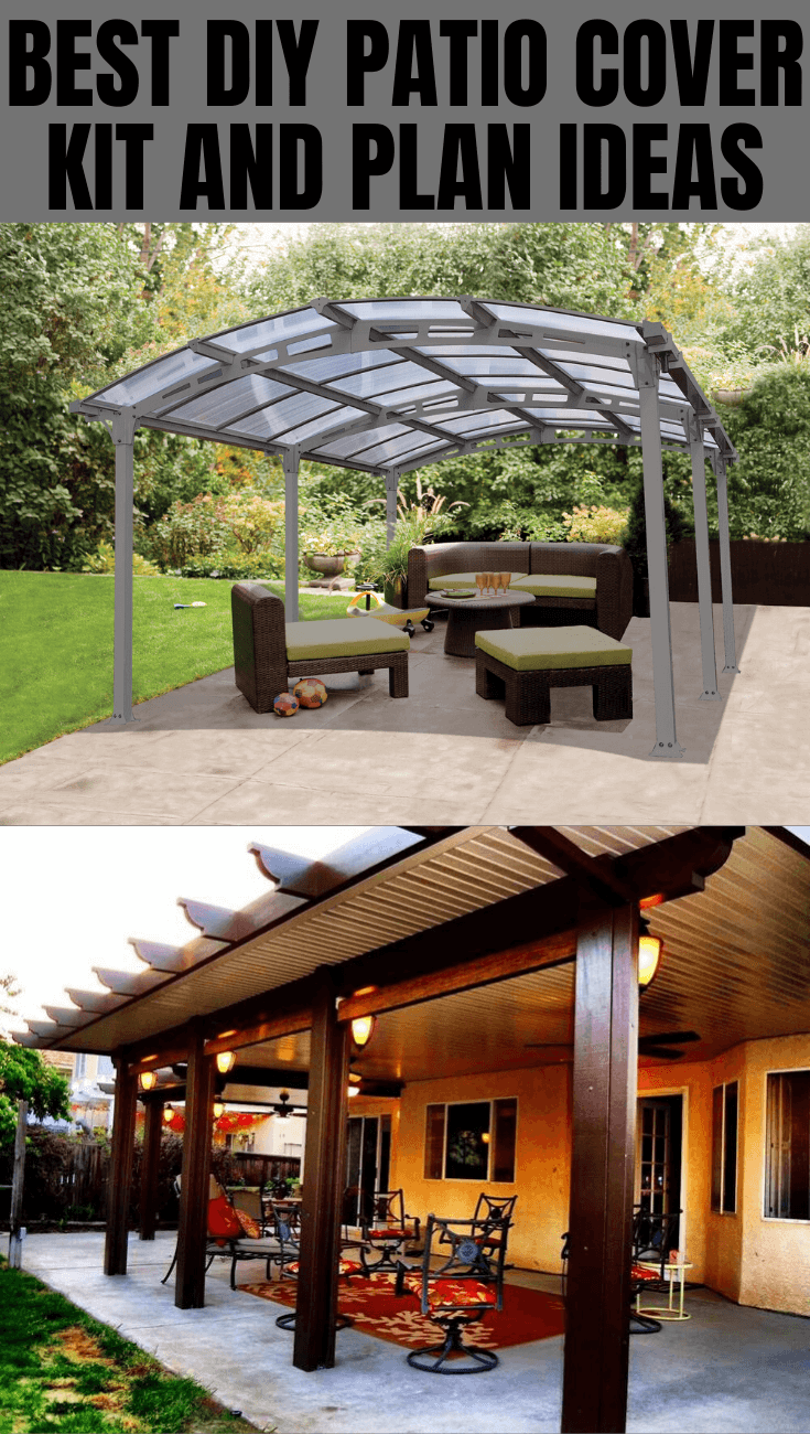 6 DIY Patio Covers Kit and Plans Ideas for Ultimate ... on Patio Cover Ideas id=63583