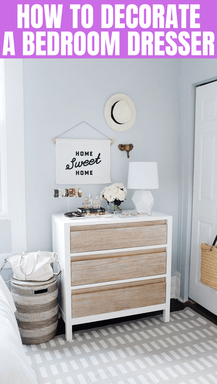 HOW TO DECORATE BEDROOM DRESSER EASILY