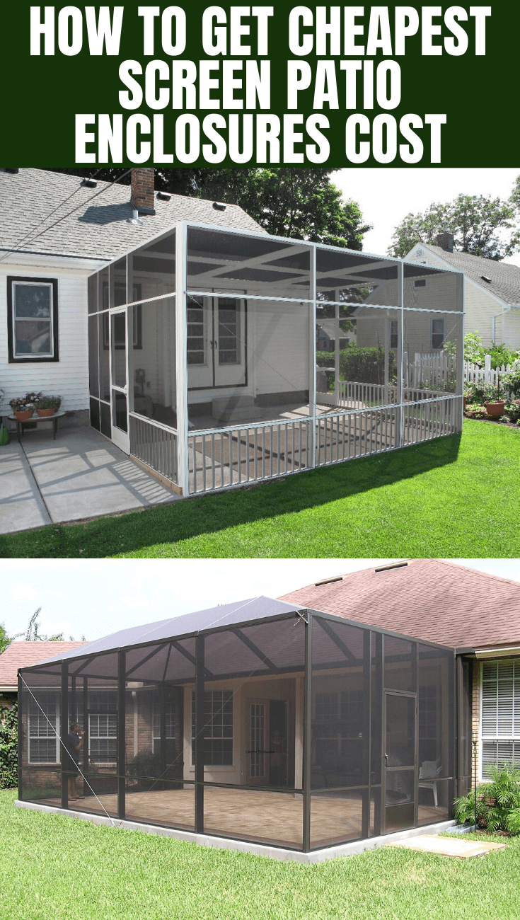 Simple Tips to Get Cheap Screen Patio Enclosures Cost on Cheap Patio Enclosure Ideas  id=79567