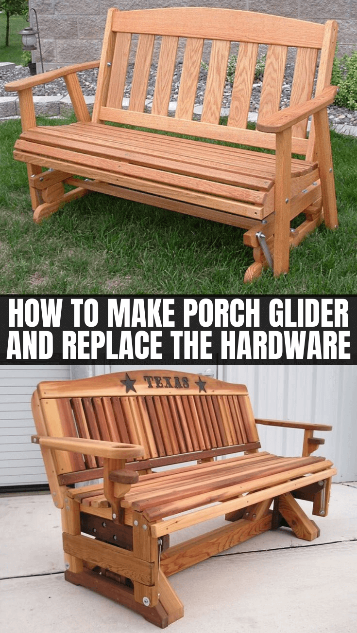 HOW TO MAKE PORCH GLIDER AND REPLACE THE HARDWARE