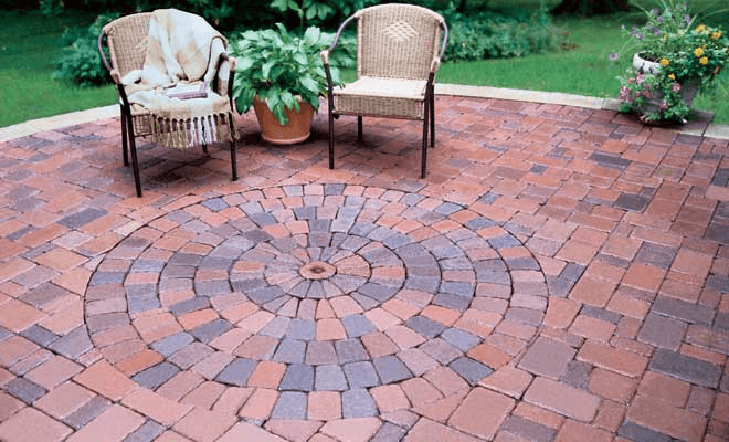 Brick Path porch flooring