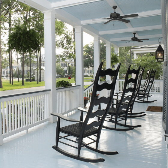Shade of Gray porch flooring