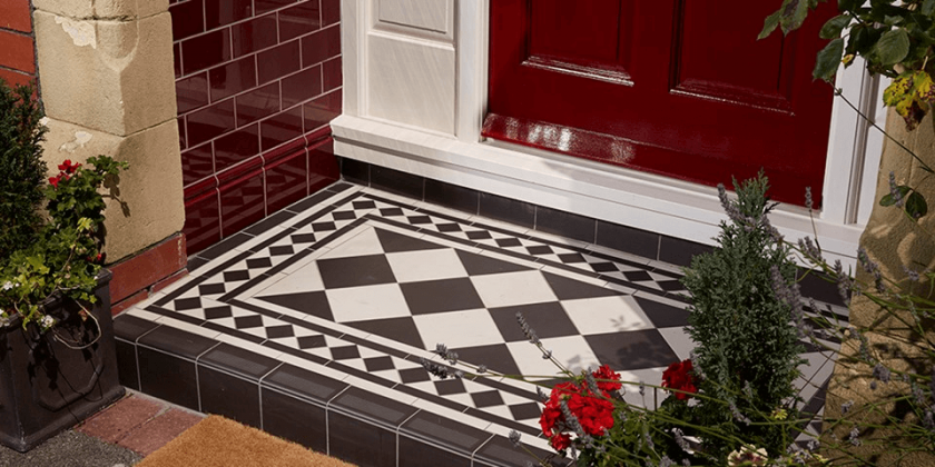 Victorian small porch tile flooring ideas